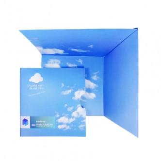Un petit coin de ciel bleu : poésie murale