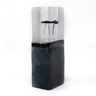Cadeau artisanat d'art. Verre soufflé bouche par Lise Gonthier. Pièce unique.