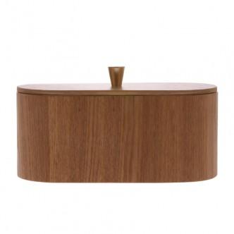 Boîte décorative en bois et laiton