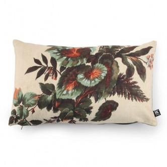 Coussin déhoussable motif floral et abstrait