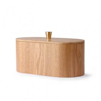 AMBER WILLOW : Boîte en bois de saule et laiton