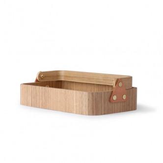 Boîte vide-poche en bois de saule avec poignée HK Living