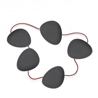 HOT - Dessous de plat silicone noir, cuir rouge