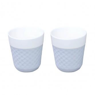 LOLA - Duo de tasses à thé silicone bleu clair par Cookut