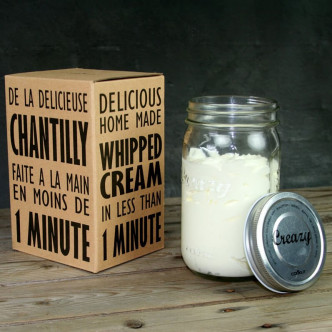 Shaker à chantilly, facile, rapide, délicieuse : Creazy par Cookut