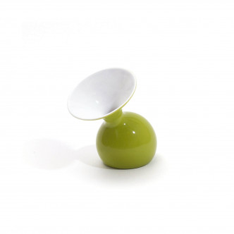 Lulu minus vert, vase céramique à poser ou à suspendre