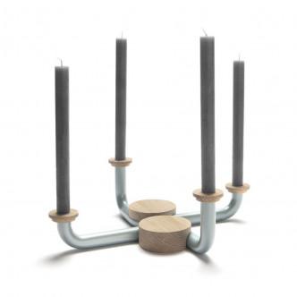 Installation 2 chandeliers design contemporain métal et bois