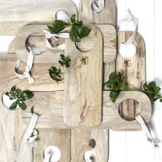 Planches à suspendre en bois de manguier Pim Pam Poum