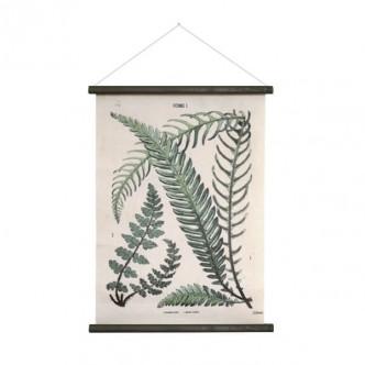 Planche botanique vintage imprimée sur toile de coton