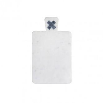 Planche à découper en marbre blanc et gris