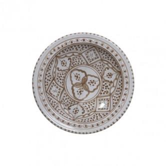 Petit plat creux artisanal peint à la main motif henné