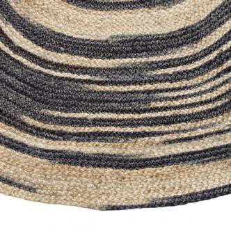 Matière naturelle, tapis en jute assemblé à la main