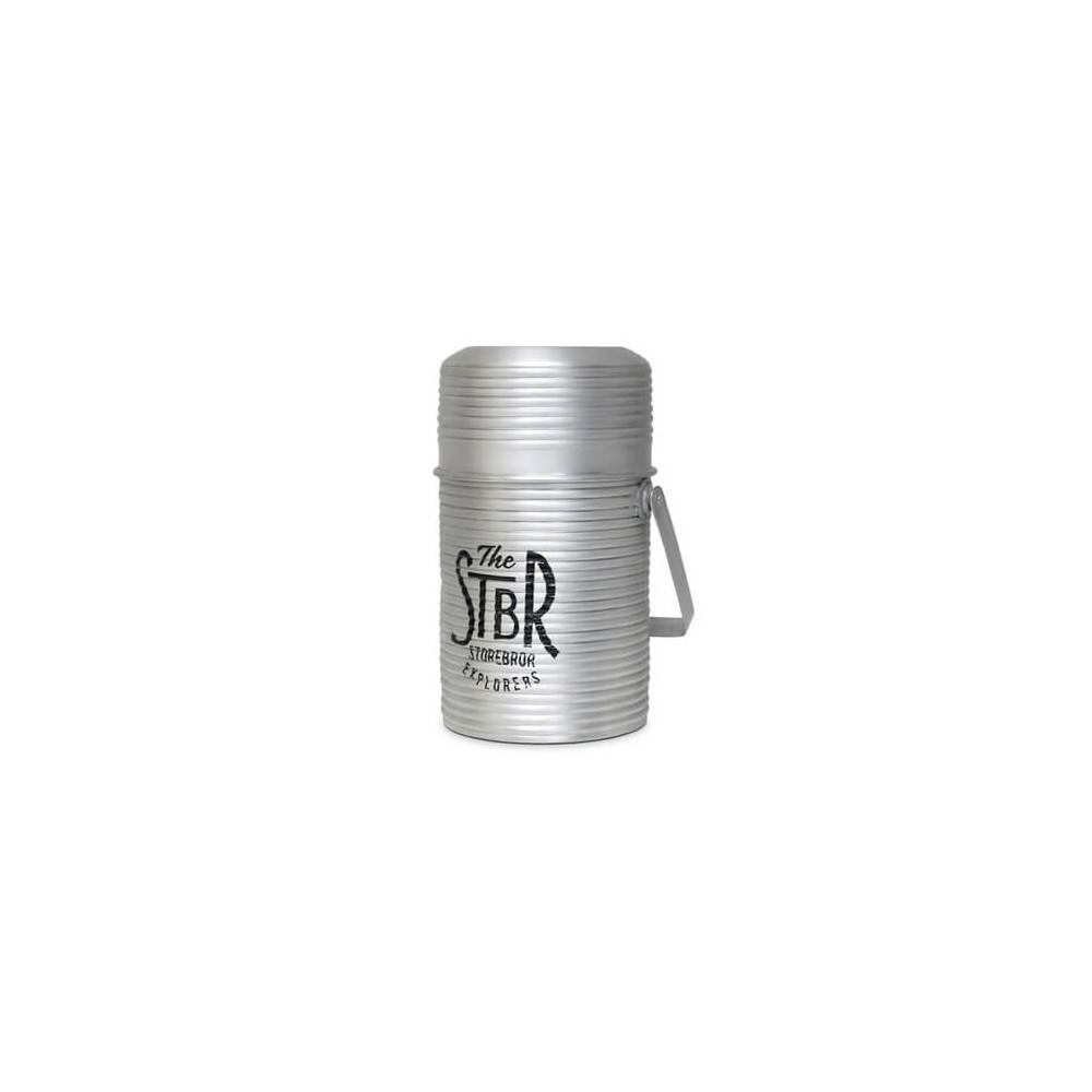 Pot en aluminium STBR décoration vintage