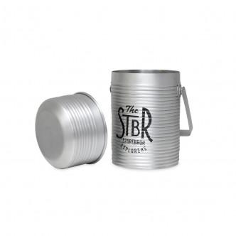 Pot en aluminium style lunchbox avec poignée et couvercle STBR