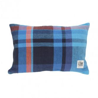 Coussin rectangulaire en tartan de coton motif écossais STBR