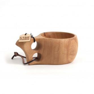 Tasse en bois façon kuksa islandaise pour la décoration