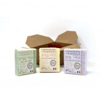Savonnettes de Marseille délicatement parfumées Mas du Roseau à offrir