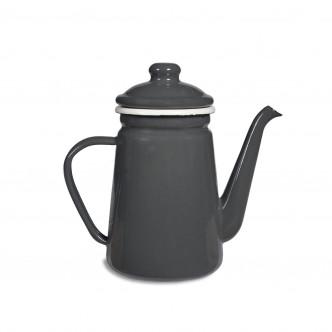 Pot à café émaillé gris anthracite vintage