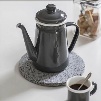 Pot à café métail émaillé, cuisine campagne