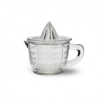 Presse-agrume avec bol intégré en verre recyclé