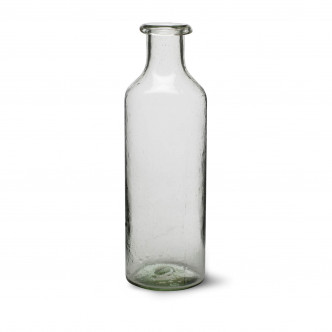 Grande bouteille en verre recyclé soufflé bouche