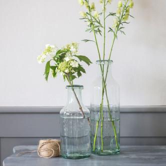 Carafe à eau ou vase en verre recyclé artisanal