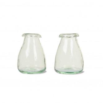 Charmants soliflores en verre recyclé soufflé bouche