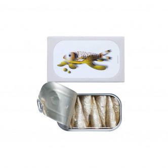Conserve de petites sardines à l'huile d'olive vierge extra