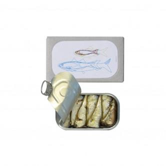 Conserve de petites sardines à l'huile pimentée