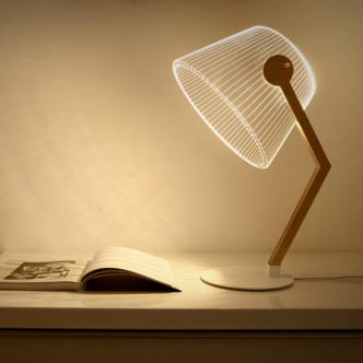 Lampe de table effet 3D, led éclairage éco-responsable