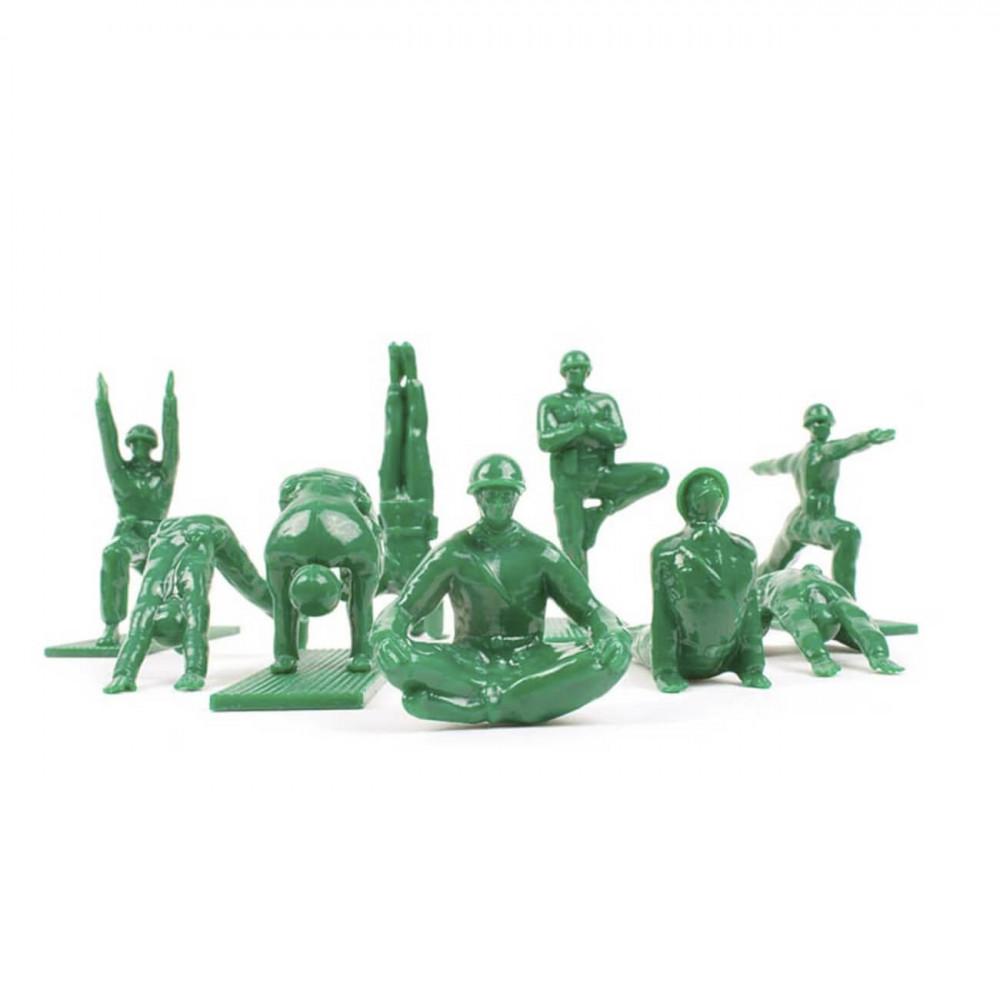 Figurines humoristiques soldats GI yoggi