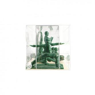 Boîte de 9 figurines soldats prenant des poses de yoga